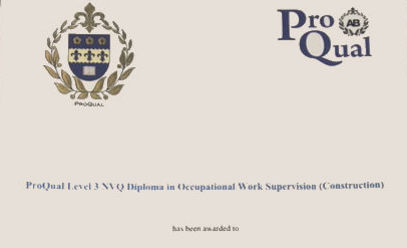 Level 3 NVQ Diploma in Occupational Work Supervision (Construction)